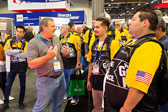 Jackpot Attendees Visit AAPEX