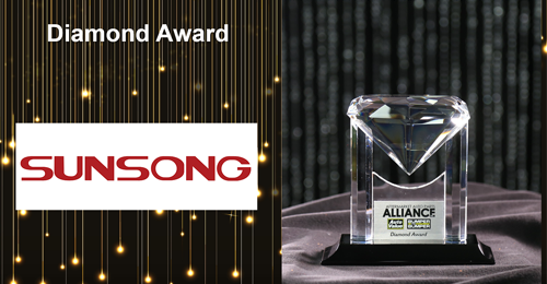 Alliance Parts Warehouse Names Sunsong the Diamond Award Winner